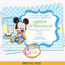 mickey mouse party invitation baby mickey mouse first birthday invitation mickey mouse 1st birthday party invite