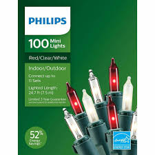 Philips 100 Green Mini Lights Upc 741895019264 Philips 100ct Red Frosted White Clear