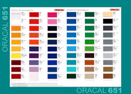 Oracal 651 Color Chart Oracal 651 Intermediate Cal 310mm B