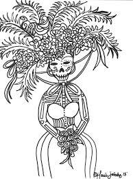 Dia Los Muertos Coloring Sheets Yahoo