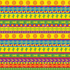 Mexican Pattern Amazing Vector Seamless Mexican Pattern In Bright Color Scheme Royalty Free