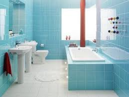 light blue bathroom tiles. Simple Bathroom Remodel Idea For Small Bathroom Design With Light Blue Wall Tiles And White Floor  For T