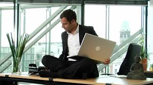 meditation in office. hd rights managed stock footage # 287-699-399 meditation in office