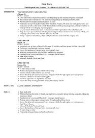 Limo Driver Resume Samples Velvet Jobs