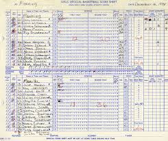 Basketball Score Sheets 1974 75 Mhs Basketball Score Sheet