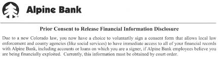 Alpine Bank S Bizarre Letter To Account Holders News From Eagle