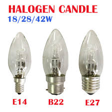 Us 10 49 10x E27 E14 B22 C35 Halogen Bulb Lighting Lamp 18w 28w 42w 220v Crystal Light Bulb In Incandescent Bulbs From Lights Lighting On