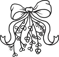 Small Picture FREE Printable Mistletoe Christmas Coloring Page for Kids 2