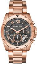 michael kor men rose watch shopstyle michael kors men s chronograph brecken rose gold tone stainless steel bracelet watch 44mm mk8563