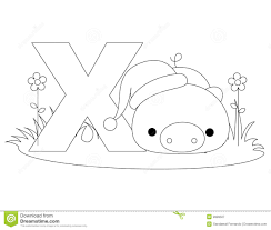 Small Picture Animal Alphabet X Coloring Page Royalty Free Stock Photography