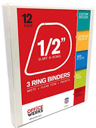 Details About 3 Ring Binder Professional D Ring Half Inch 5 Inch Binder For Pages 8 5 X 11