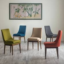 funky upholstered dining chairs living carter mid century modern upholstered dining chair set of 2 funky