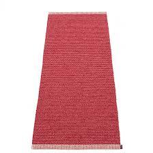 pappelina mono blush dark red runner 60 x 150 cm