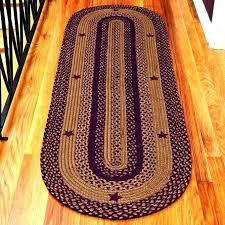 oval area rug rugs decoration braided leather teal menards large furniture mart of kansas leath