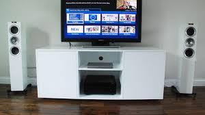 Contemporary white TV unit