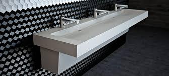 commercial trough bathroom sinks