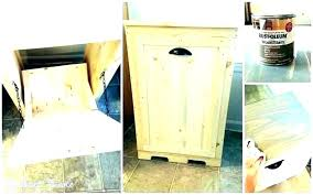 trash can cabinet wooden