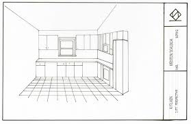 kitchen 1 point perspective. in the kitchen with karyn project floorplan section perspectives 1 point perspective