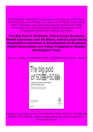 Value Proposition Design Book Pdf Download Hardcover_ The Big Pad Of 50 Blank Extra Large Business