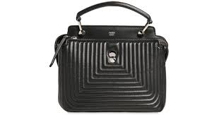 Lyst - Fendi Small Dotcom Quilted Leather Bag in Black &  Adamdwight.com