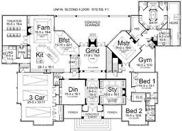 Luxury ranch estate house plan lacrysta first floor plan wonderful spaces dont need a second floor at all