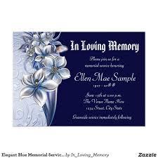 Memorial Announcement Cards Elegant Blue Memorial Service Announcements Celebration Of Life