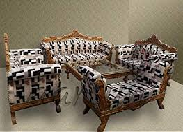 aarsun woods teak wooden sofa set 3 2 2 wooden settee
