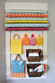 the craft room week two with diy gift wrapping station at thehappyhousie com 6