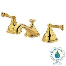 widespread 2 handle low arc bathroom faucet