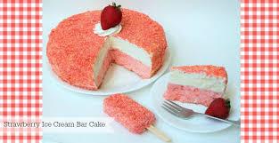 strawberry shortcake ice cream bar cake