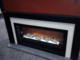 modern electric fireplace with mantel