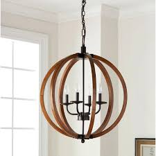 vineyard chandelier the gray barn vineyard distressed mahogany and bronze 4 light orb chandelier