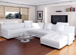 leather sectional living room furniture. Riviera White Leather Sectional Sofa Terrific Modern Living Room Furniture