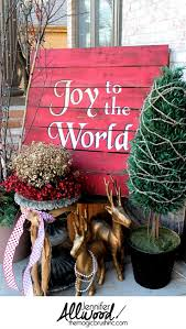 pallet painting ideas christmas. painted christmas pallet - joy to the world painting ideas c