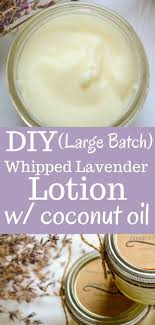 large batch diy whipped lavender lotion with coconut oil