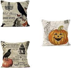 PSDWETS <b>Halloween Decorations</b> Bird,<b>Skull</b> and <b>Pumpkin</b> Pillow ...