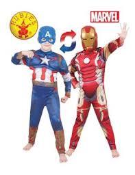 ... Reversible Iron Man To Captain America Kids Costume
