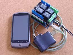 open garage door with phoneAndroid controlled Garage Door Remote pfodDevice for Arduino
