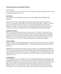 Partnership Agreement Between Companies Business Partnership Agreement Between Two Companies Sample