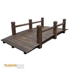 home garden decor wooden bridge classic design