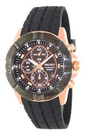 seiko men chronograph black bezel rose gold 100m watch sndd80 sndd80p1 image is loading seiko men chronograph black bezel rose gold 100m