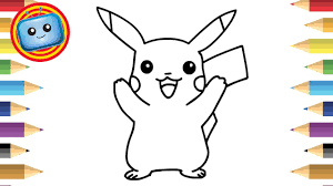 how to draw pokemon pikachu simple drawing game animation colouring book
