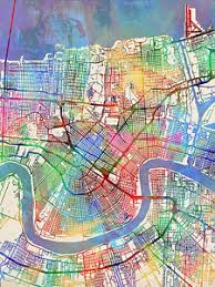 louisiana map art prints on map of new orleans wall art with louisiana map art fine art america