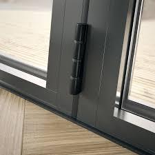 status 2 4m grey aluminium double glazed bifold doors