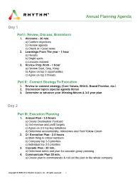Planning Meeting Agenda Template Annual Planning Agenda Template For Your Annual Planning