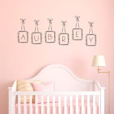 name frames wall decal
