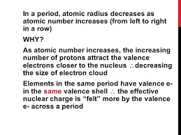 PERIODIC TABLE TRENDS. PERIODICITY A regular pattern in the ...
