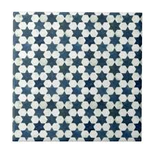 blue moroccan star pattern tile