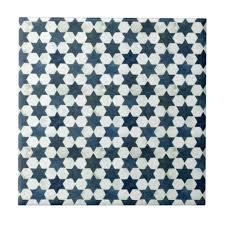 blue moroccan star pattern tile