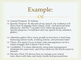 Speech Writing Introduction And Conclusion Example General Purpose ...